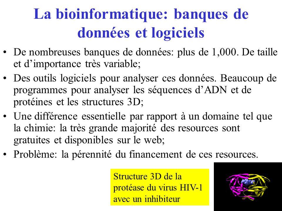 La bioinformatique: banques de données et logiciels
