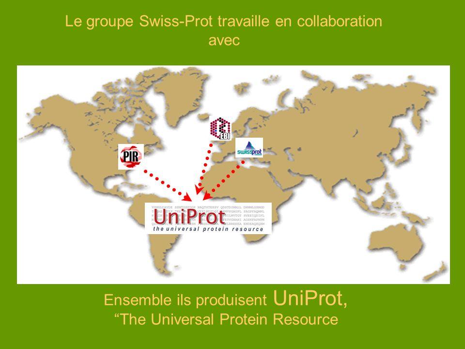 Le groupe Swiss-Prot travaille en collaboration avec