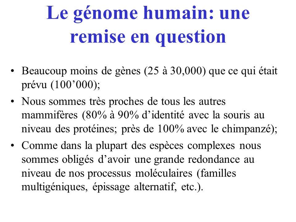 Le génome humain: une remise en question