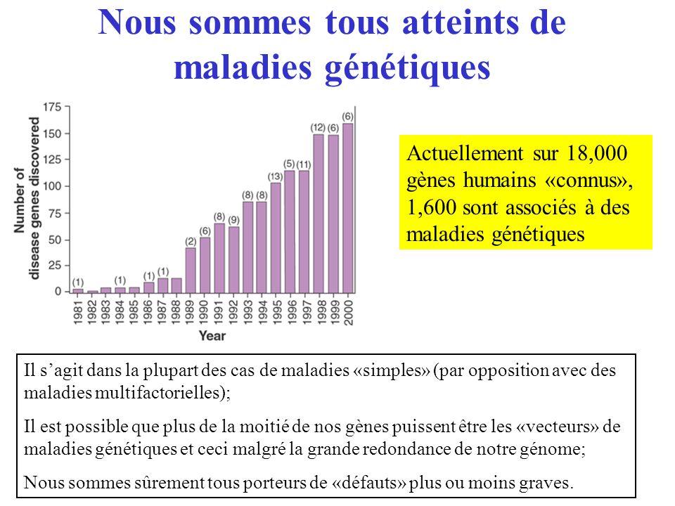 Nous sommes tous atteints de maladies génétiques