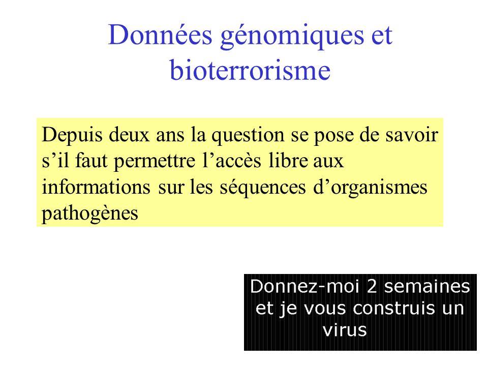 Données génomiques et bioterrorisme