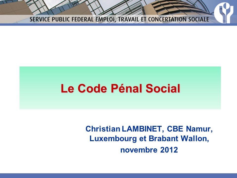 Christian LAMBINET, CBE Namur, Luxembourg et Brabant Wallon,