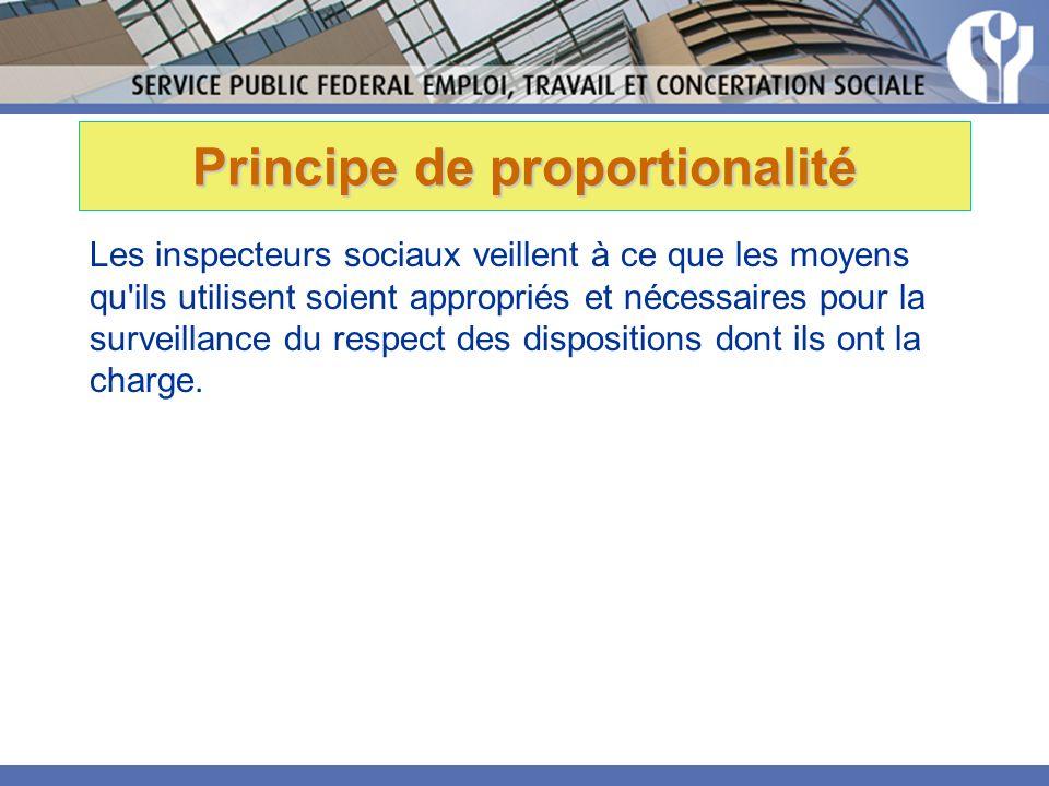Principe de proportionalité