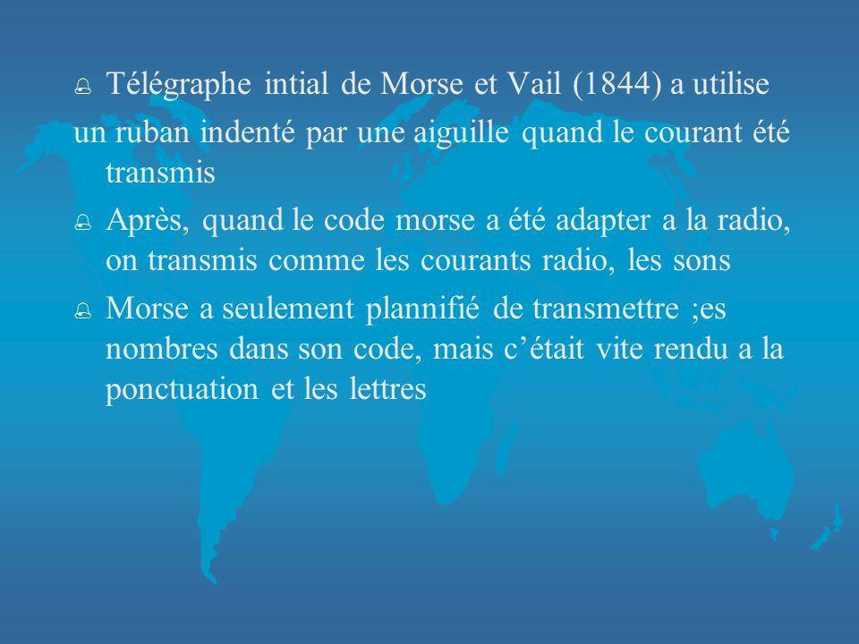 Télégraphe intial de Morse et Vail (1844) a utilise