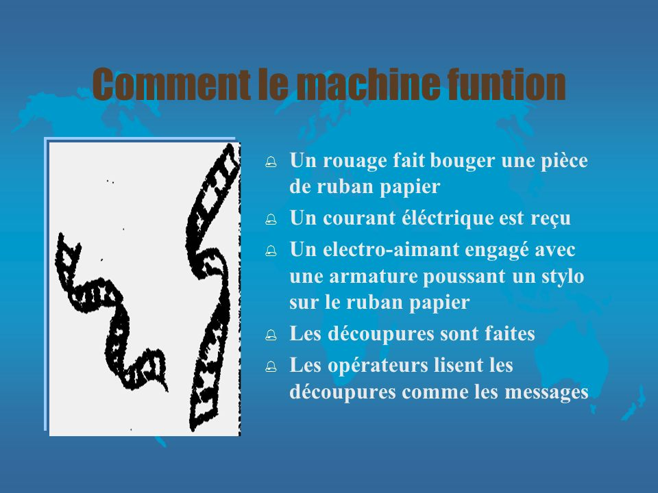 Comment le machine funtion