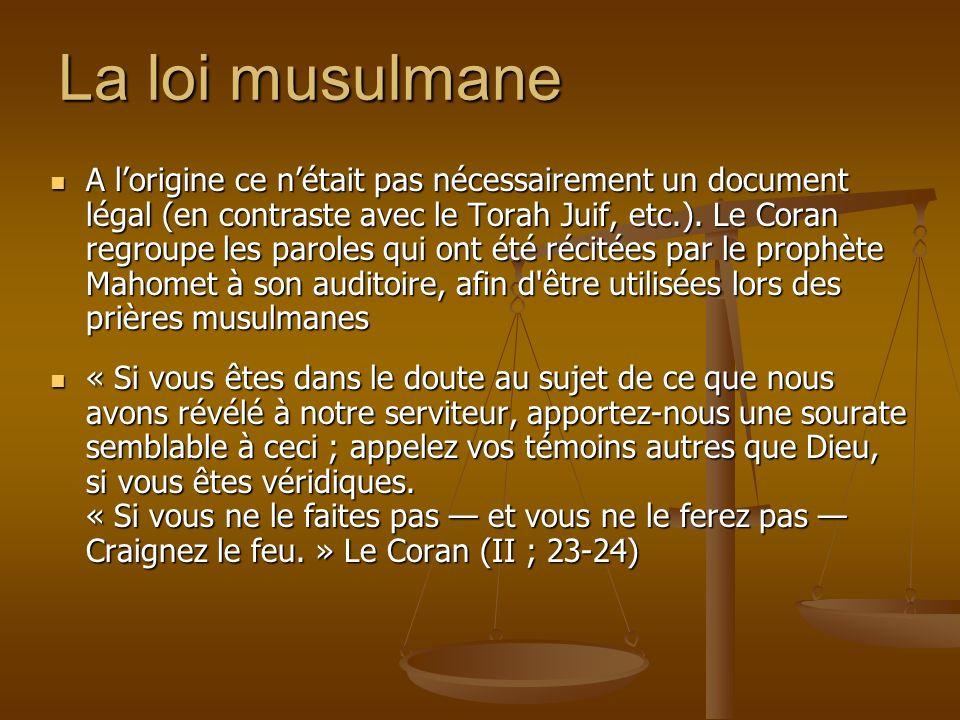 La loi musulmane