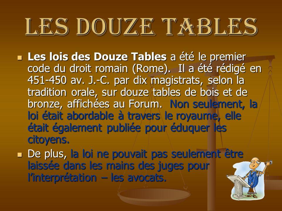 Les douze tables