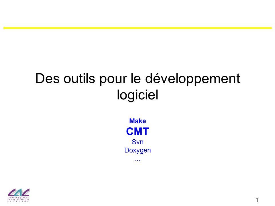Des outils pour le développement logiciel