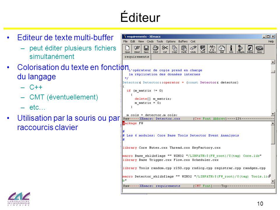 Éditeur Editeur de texte multi-buffer