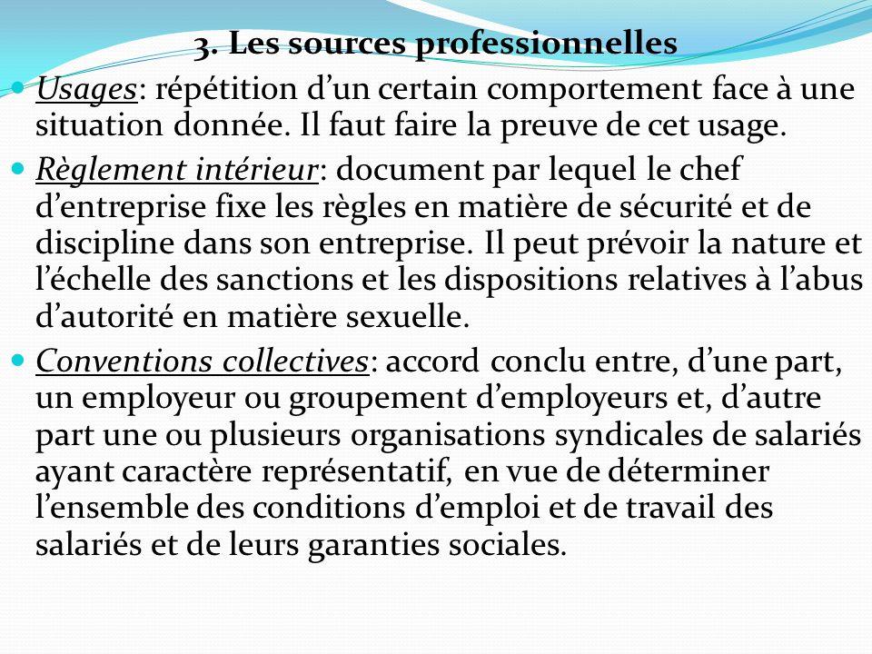3. Les sources professionnelles