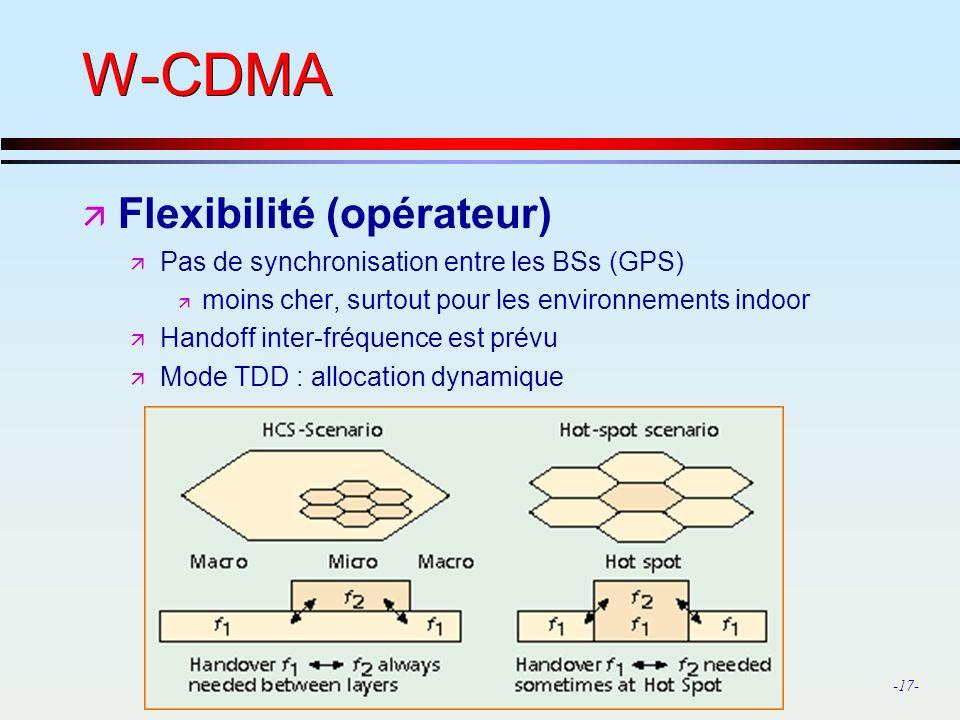 W-CDMA Flexibilité (opérateur)