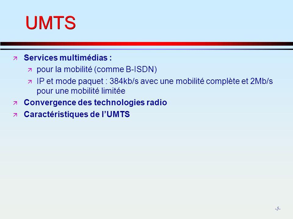 UMTS Services multimédias : pour la mobilité (comme B-ISDN)