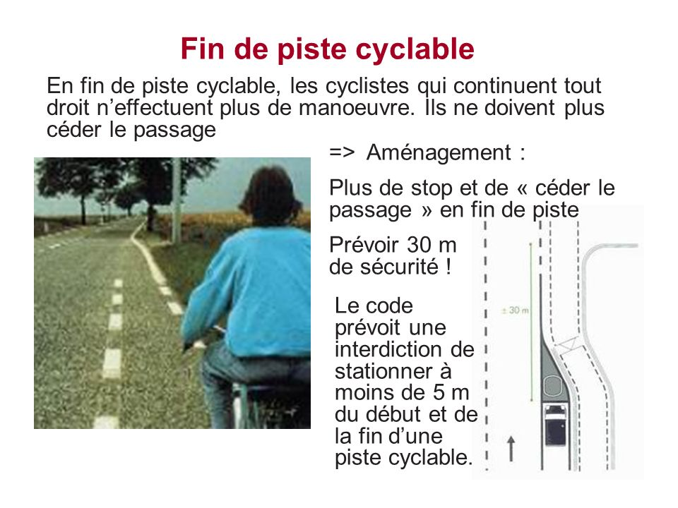 Fin de piste cyclable