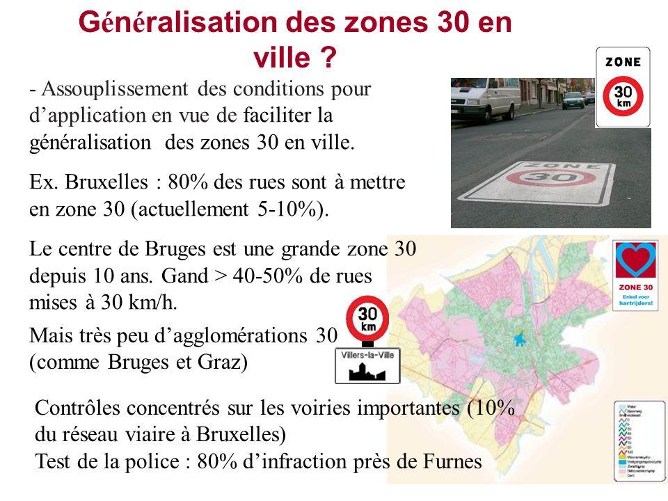 Généralisation des zones 30 en ville