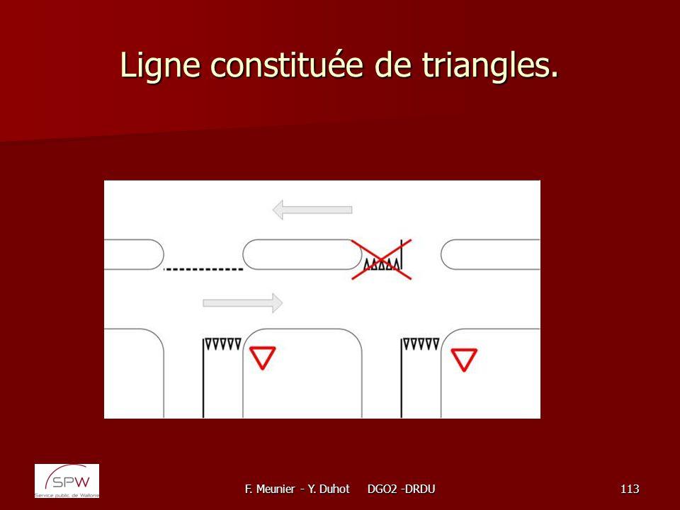 Ligne constituée de triangles.