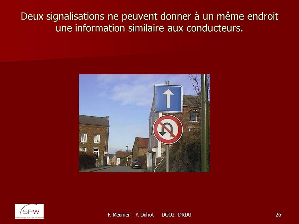F. Meunier - Y. Duhot DGO2 -DRDU