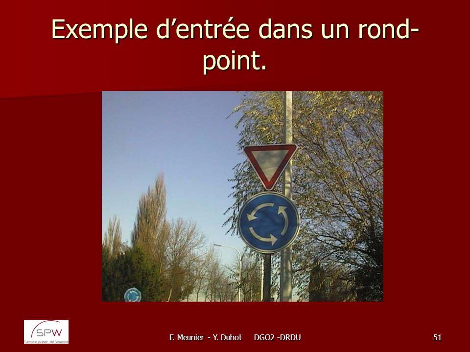 Exemple d'entrée dans un rond-point.