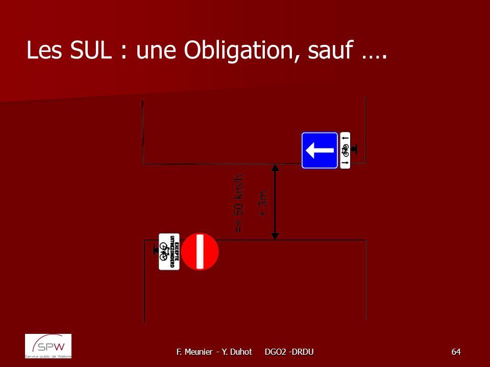 Les SUL : une Obligation, sauf ….