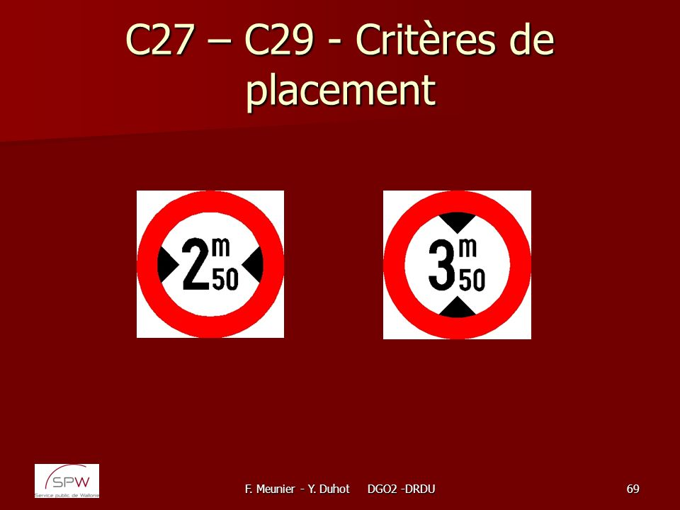C27 – C29 - Critères de placement