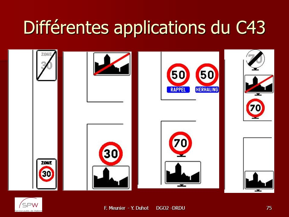 Différentes applications du C43