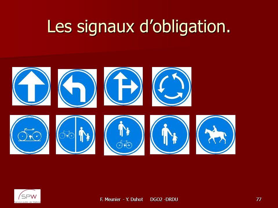 Les signaux d'obligation.