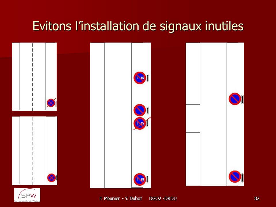 Evitons l'installation de signaux inutiles