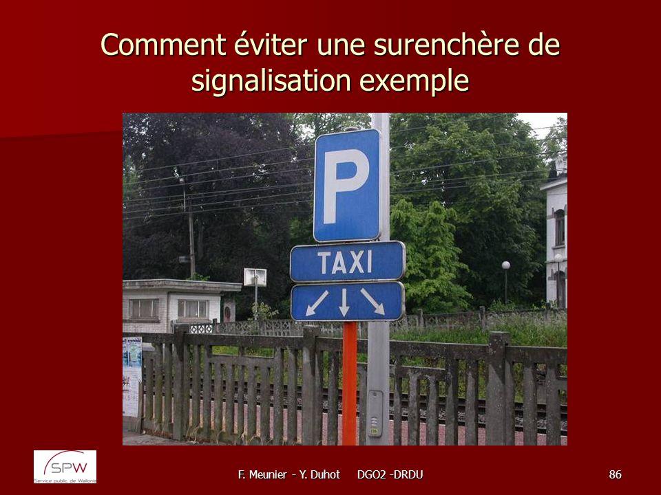 Comment éviter une surenchère de signalisation exemple