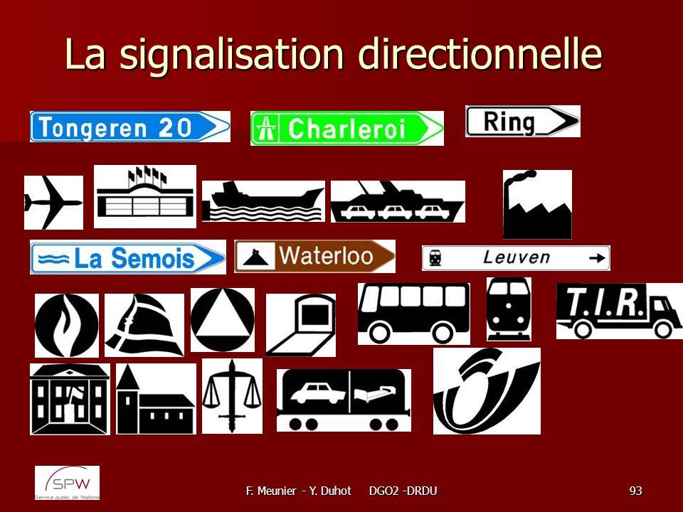 La signalisation directionnelle