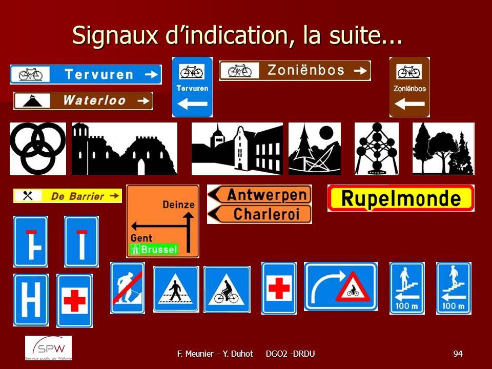 Signaux d'indication, la suite...