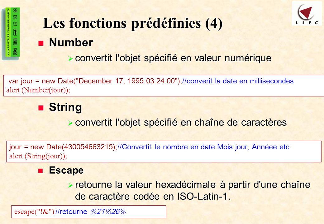 Les fonctions prédéfinies (4)