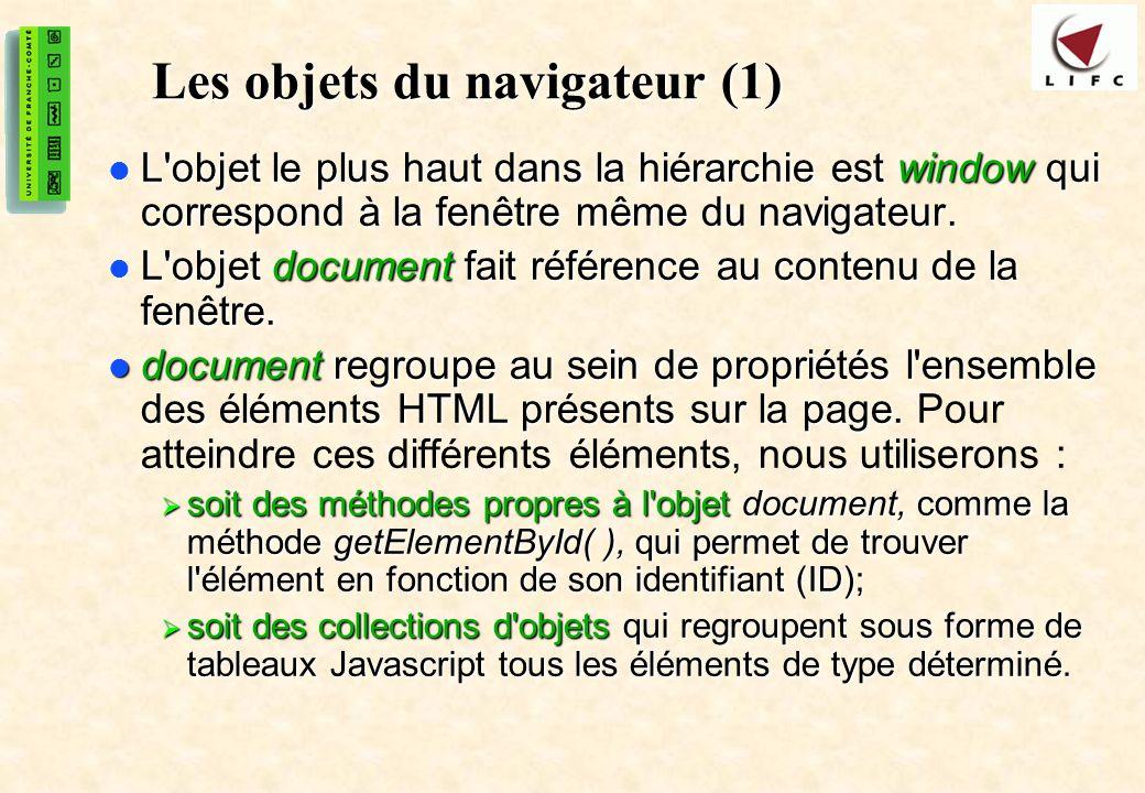 Les objets du navigateur (1)