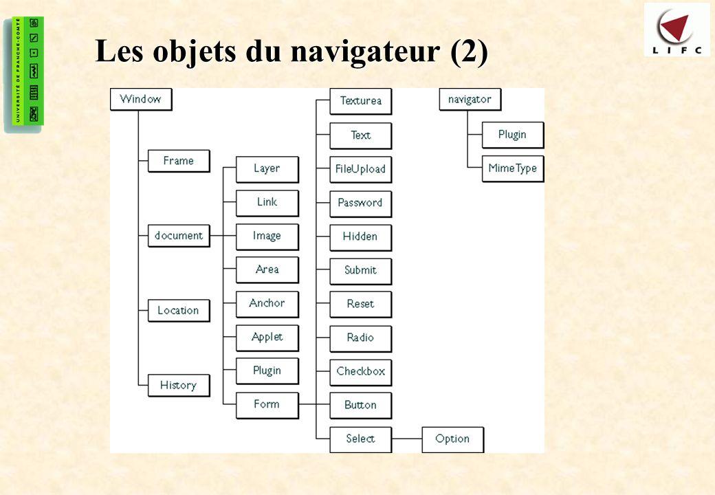 Les objets du navigateur (2)