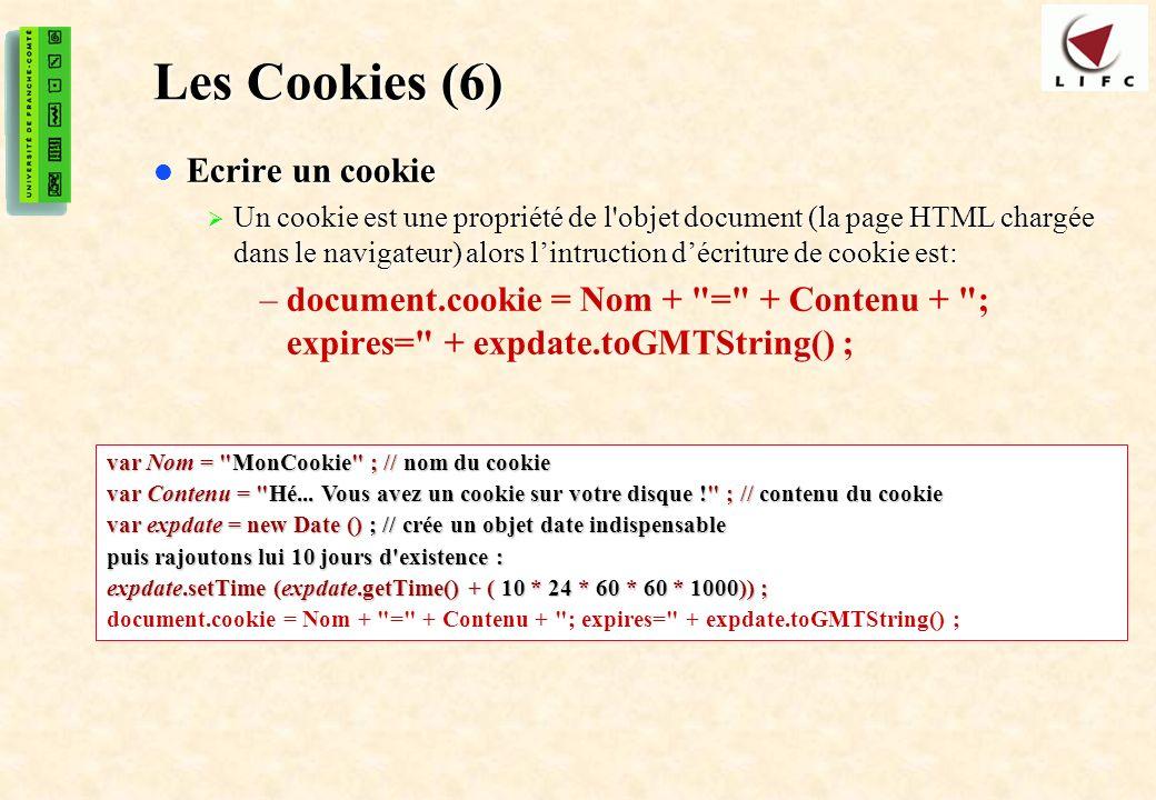 Les Cookies (6) Ecrire un cookie