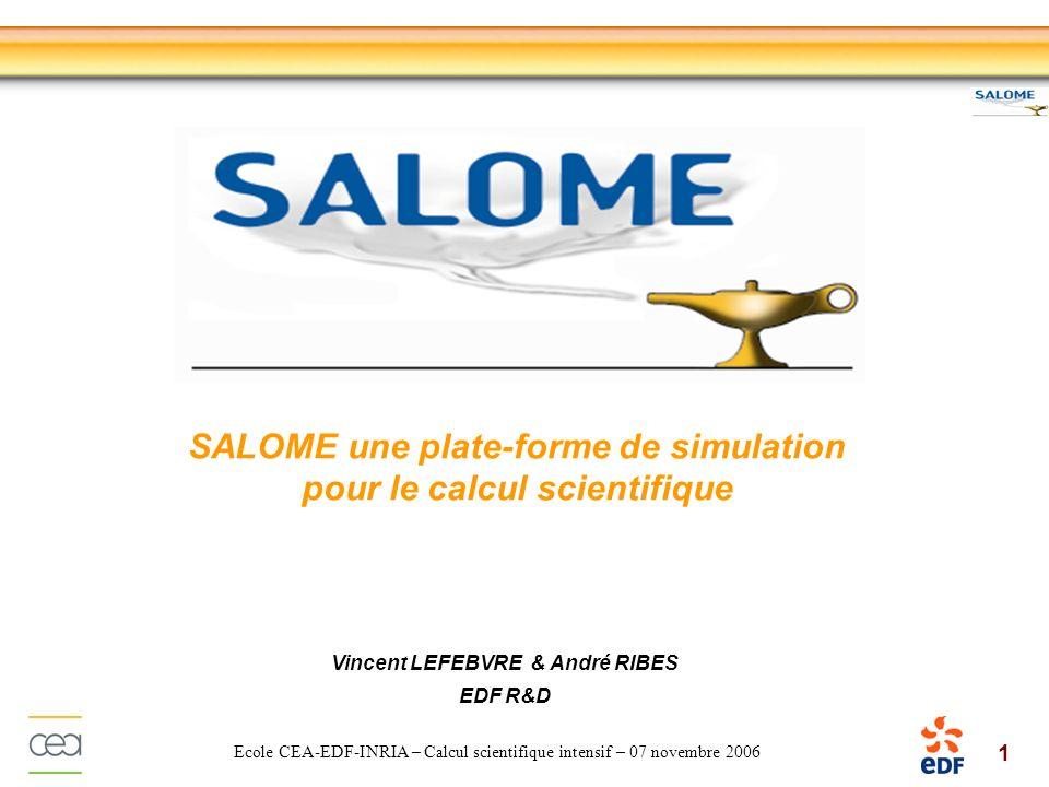 SALOME une plate-forme de simulation pour le calcul scientifique