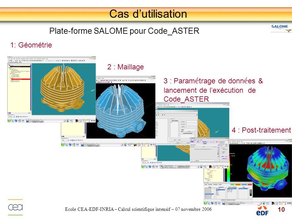 Cas d'utilisation Plate-forme SALOME pour Code_ASTER 1: Géométrie