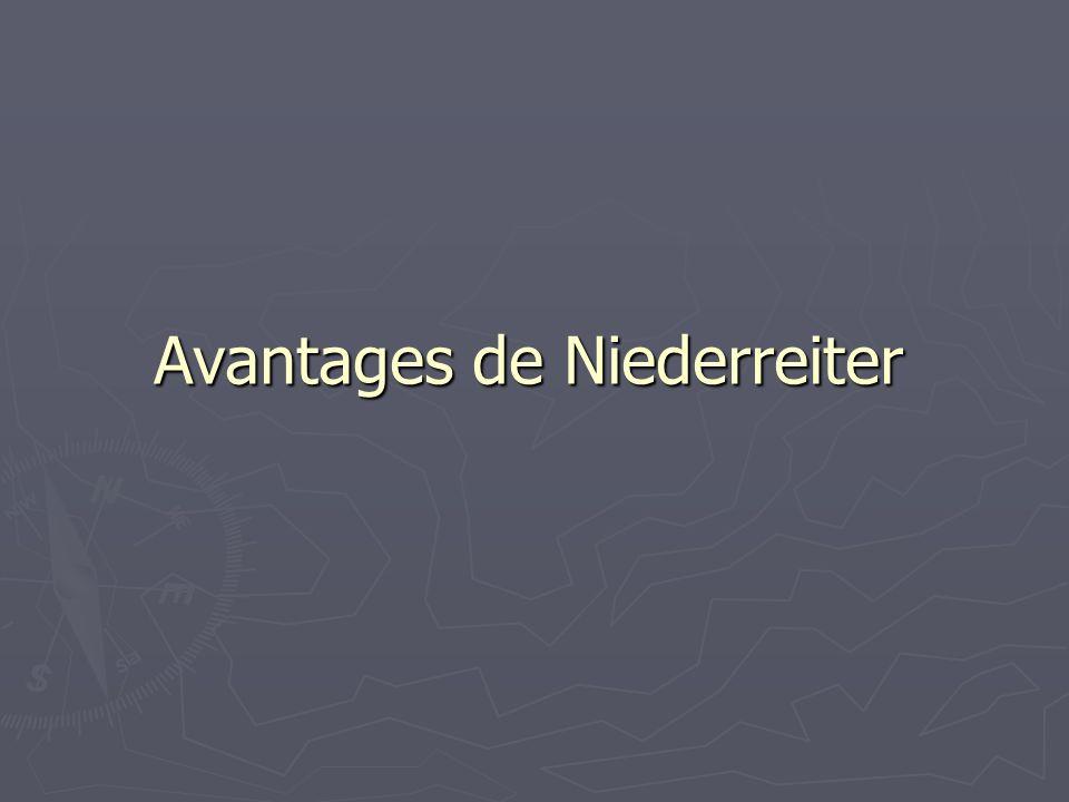 Avantages de Niederreiter
