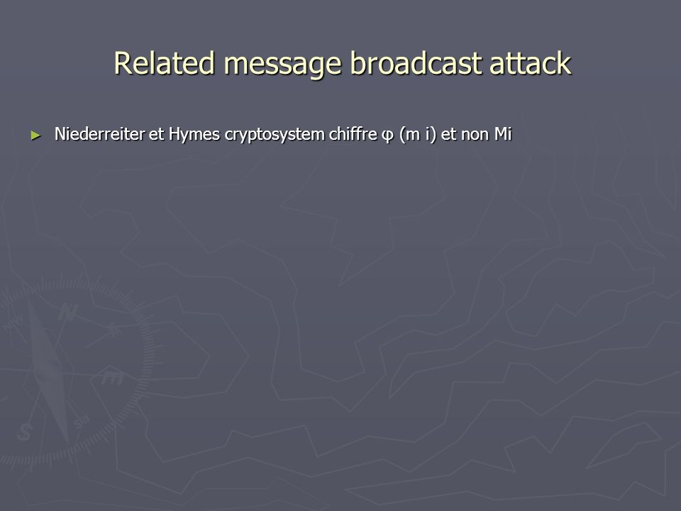 Related message broadcast attack