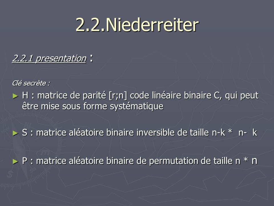 2.2.Niederreiter 2.2.1 presentation :