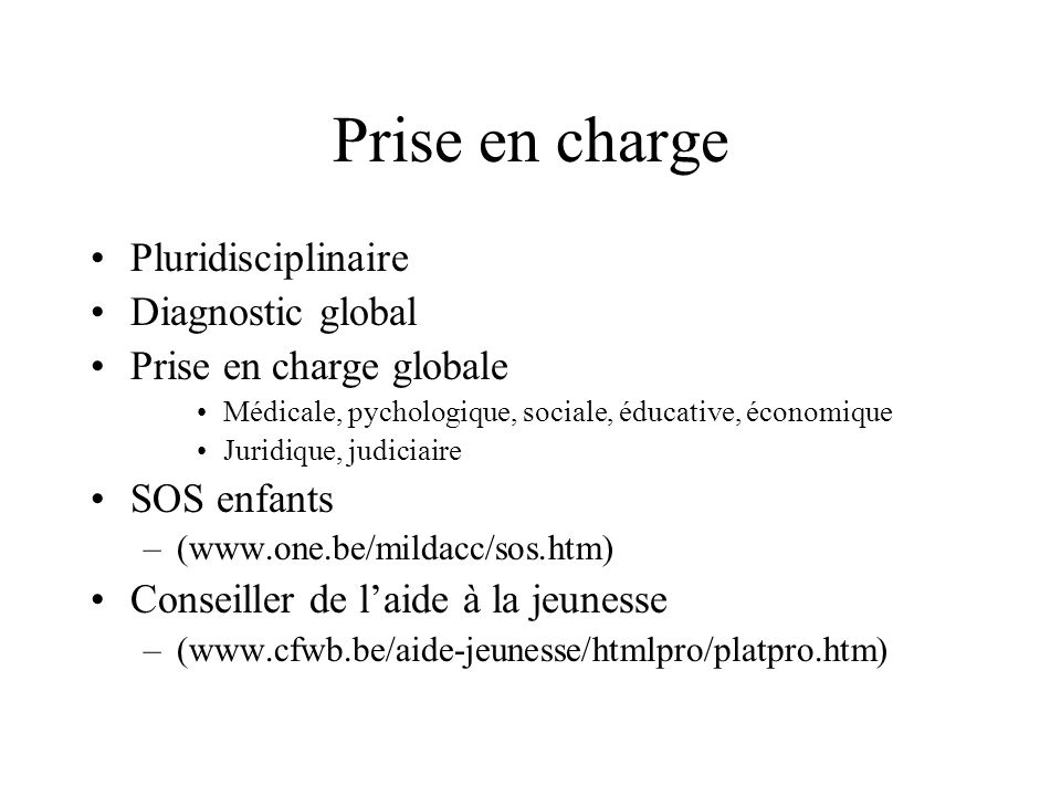 Prise en charge Pluridisciplinaire Diagnostic global