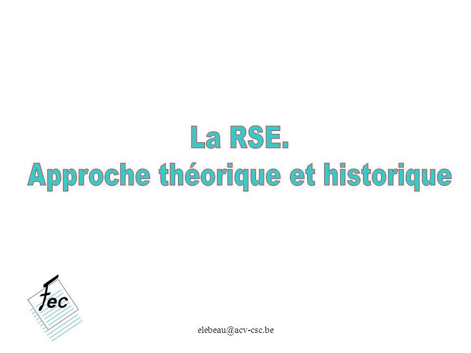 Approche théorique et historique