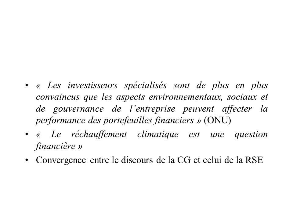 « Le réchauffement climatique est une question financière »