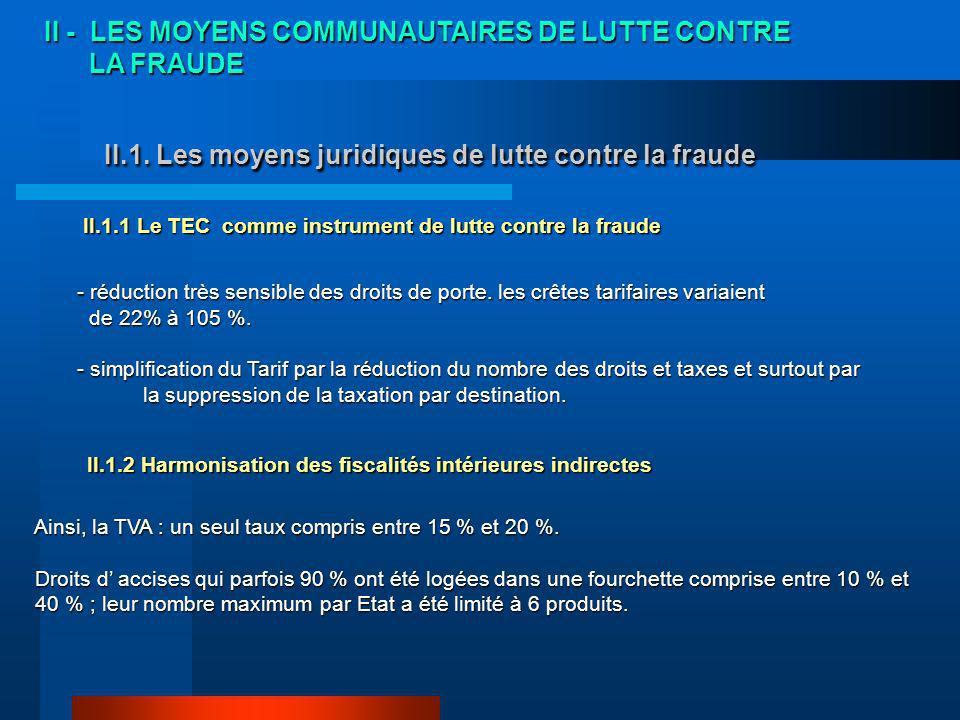 II.1. Les moyens juridiques de lutte contre la fraude