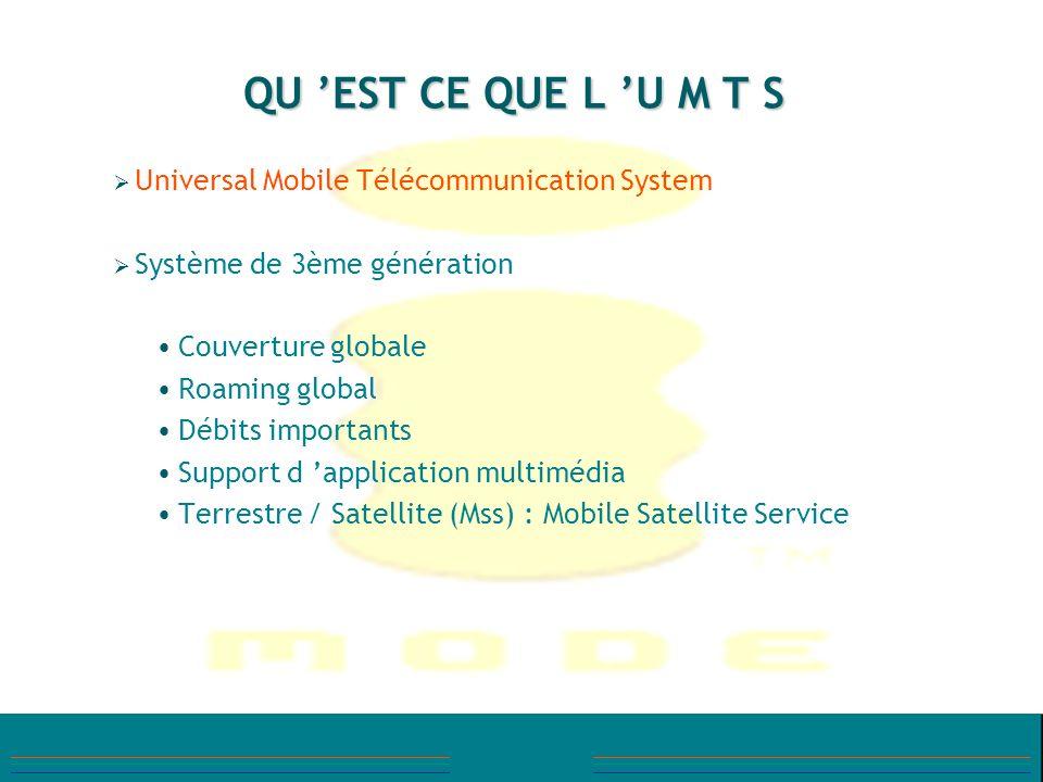 QU 'EST CE QUE L 'U M T S Universal Mobile Télécommunication System