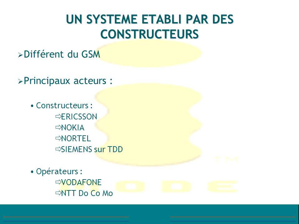 UN SYSTEME ETABLI PAR DES CONSTRUCTEURS