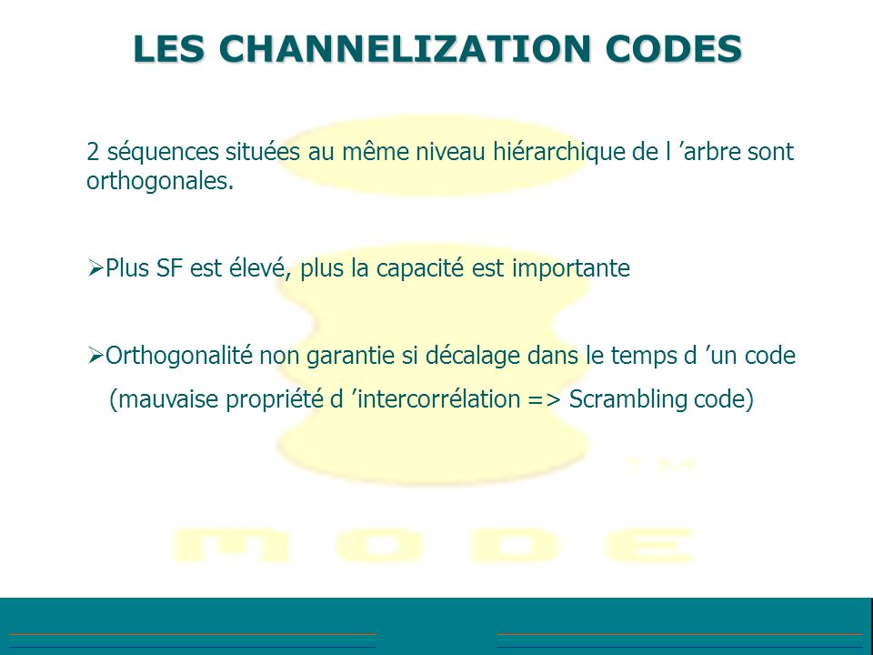 LES CHANNELIZATION CODES