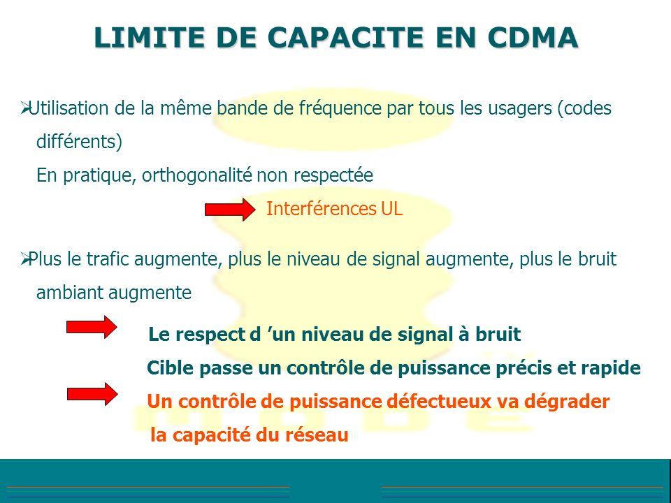 LIMITE DE CAPACITE EN CDMA