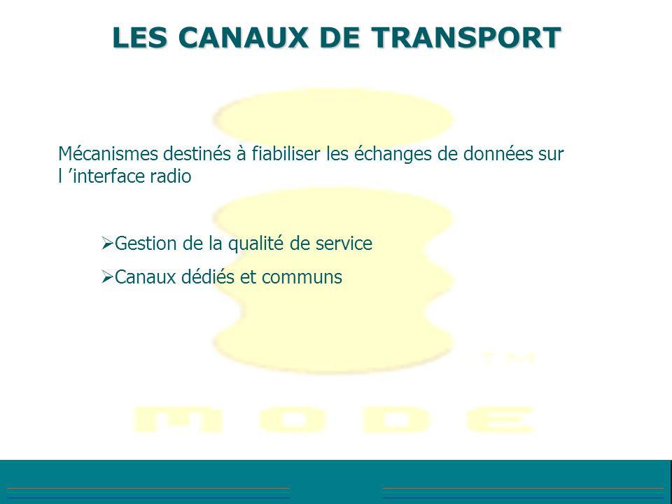 LES CANAUX DE TRANSPORT