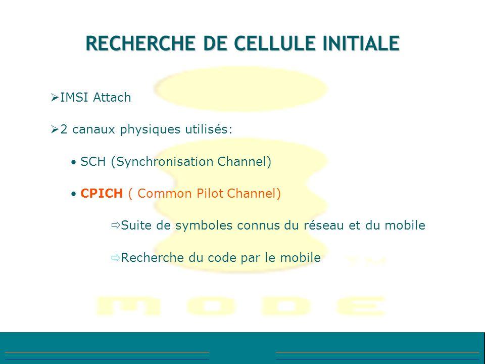 RECHERCHE DE CELLULE INITIALE