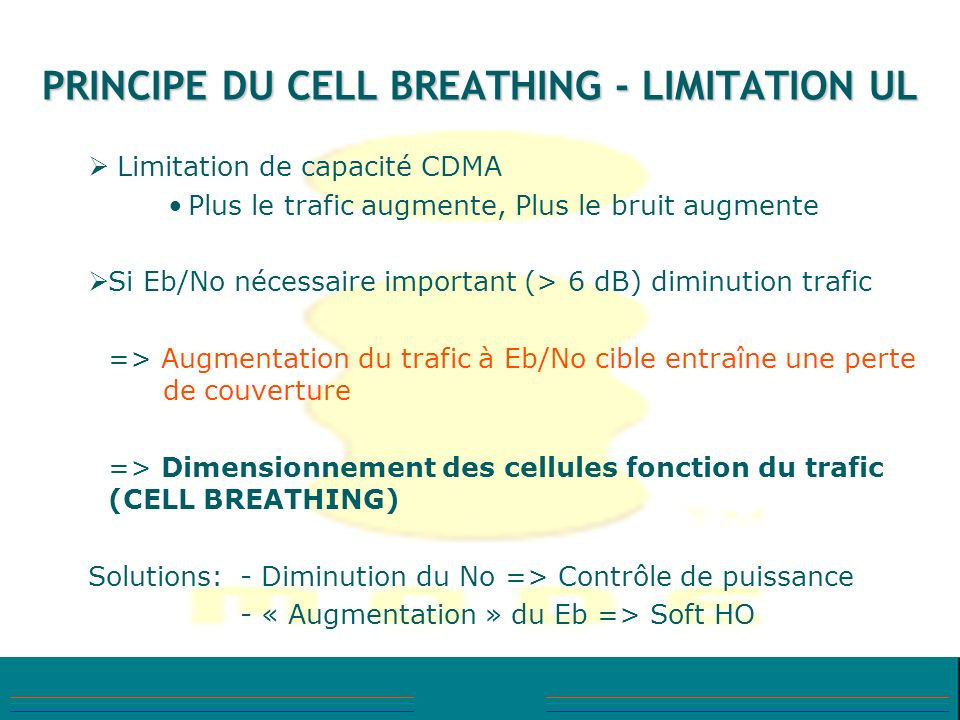 PRINCIPE DU CELL BREATHING - LIMITATION UL