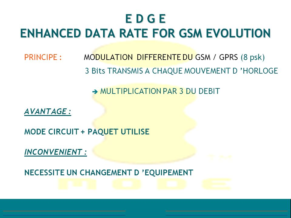 E D G E ENHANCED DATA RATE FOR GSM EVOLUTION